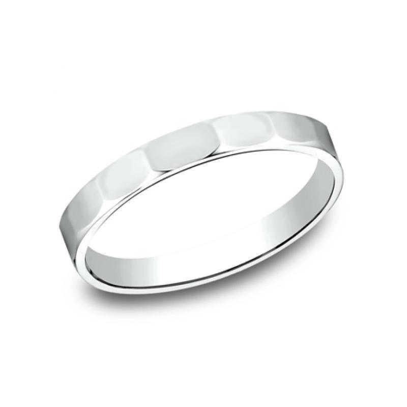 BENCHMARK Ladies 14k White Gold Wedding Band 72025W