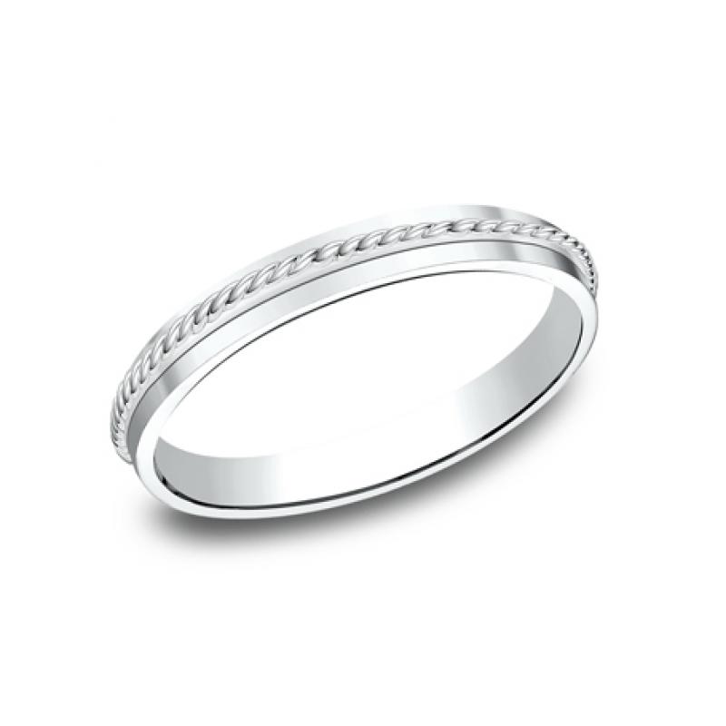BENCHMARK Ladies 14k White Gold Wedding Band 72015W