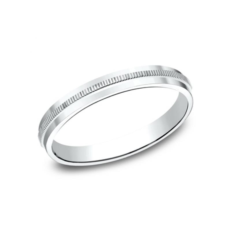 BENCHMARK Ladies White Gold Wedding Band 72013W