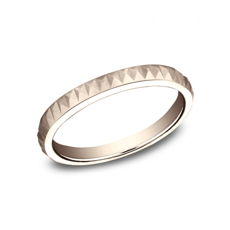BENCHMARK Ladies Rose Gold Wedding Band 62325R