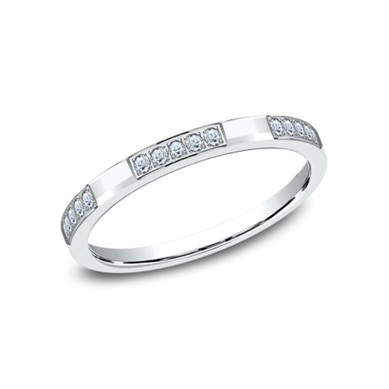BENCHMARK Ladies 14k White Gold Wedding Band 522850W