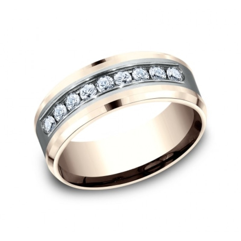 BENCHMARK Mens Two-Tone Wedding Band CF268010D