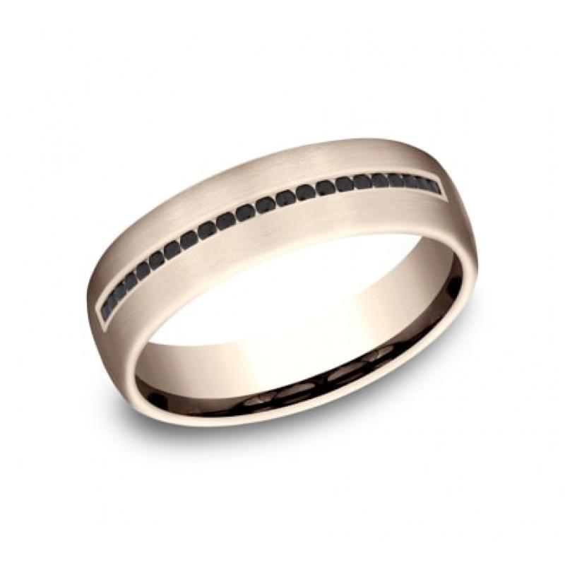 BENCHMARK Mens Rose Gold Wedding Band CF716551R