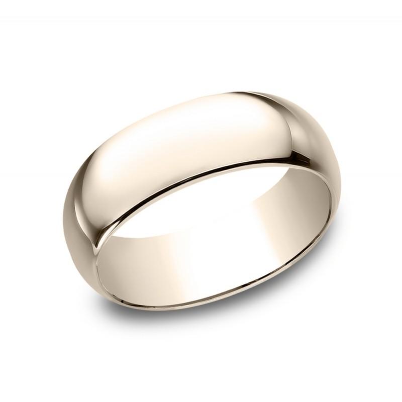 BENCHMARK Mens Rose Gold Wedding Band 180R