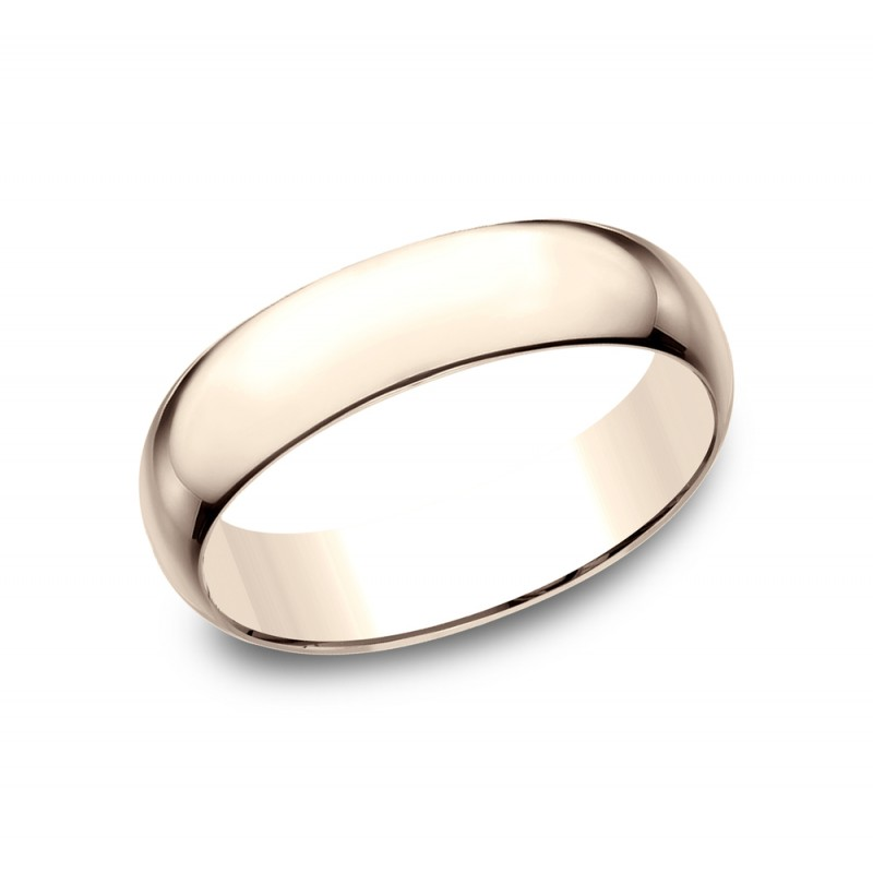 BENCHMARK Mens Rose Gold Wedding Band L160R
