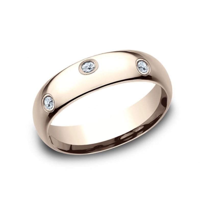 BENCHMARK Ladies 14k Rose Gold Wedding Band LCF160DR