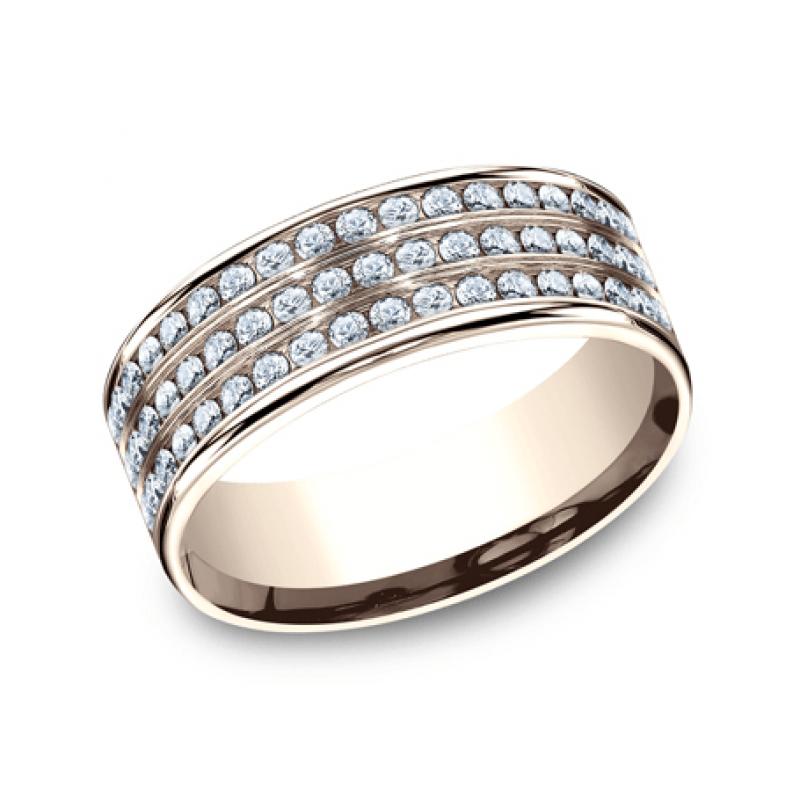 BENCHMARK Ladies Rose Gold Wedding Band CF528556R