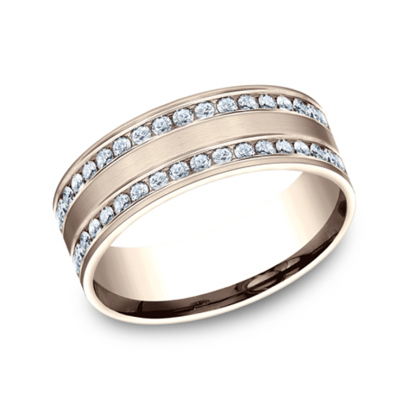 BENCHMARK Ladies Rose Gold Wedding Band CF528551R