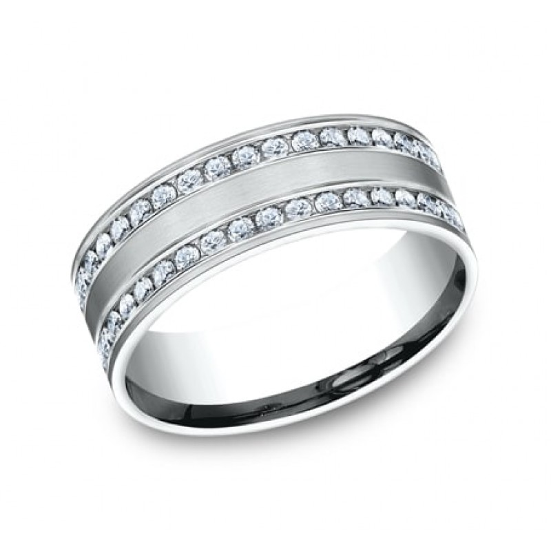 BENCHMARK Ladies White Gold Wedding Band CF528551W