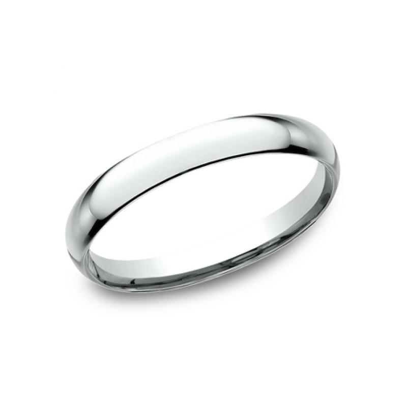 CLASSIC Mens 14k White Gold Wedding Band LCF125W