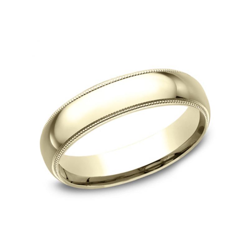 BENCHMARK Mens Yellow Gold Wedding Band LCF350Y