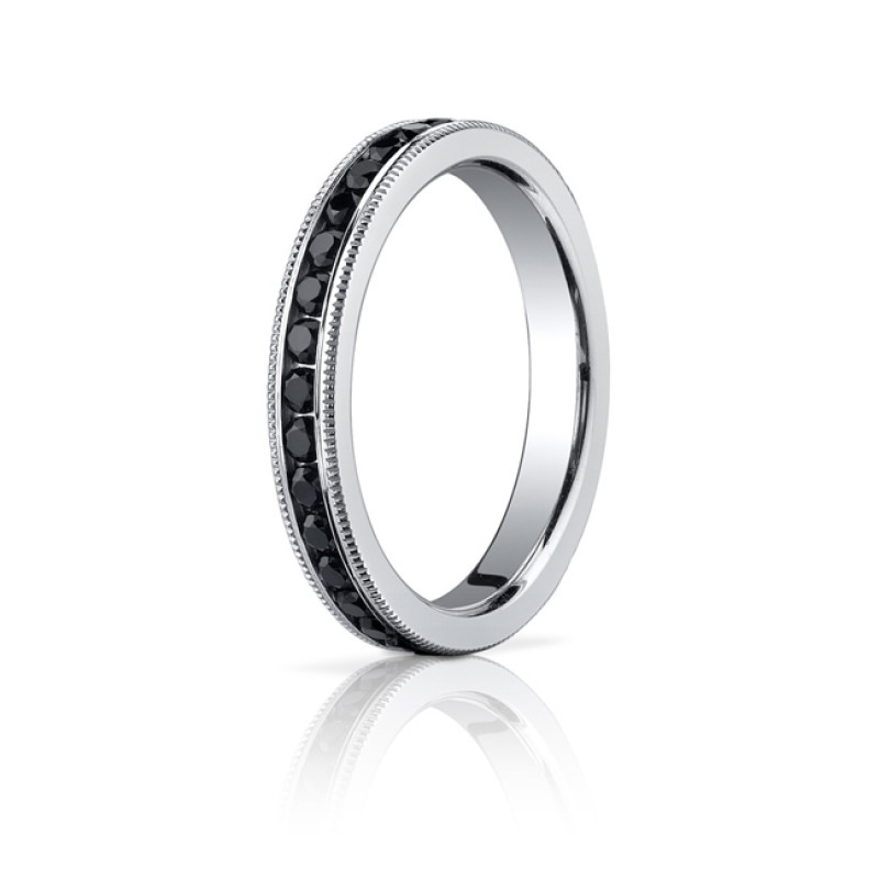 3mm Black Diamond MIllgrain Eternity Band