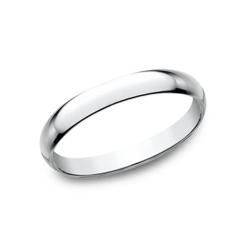 CLASSIC Mens 14k White Gold Wedding Band 125W