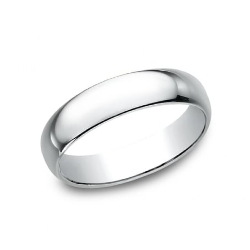 CLASSIC Mens 14k White Gold Wedding Band 150W