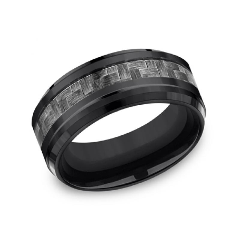 FORGE Mens Titanium Wedding Band CF69488CFBKT