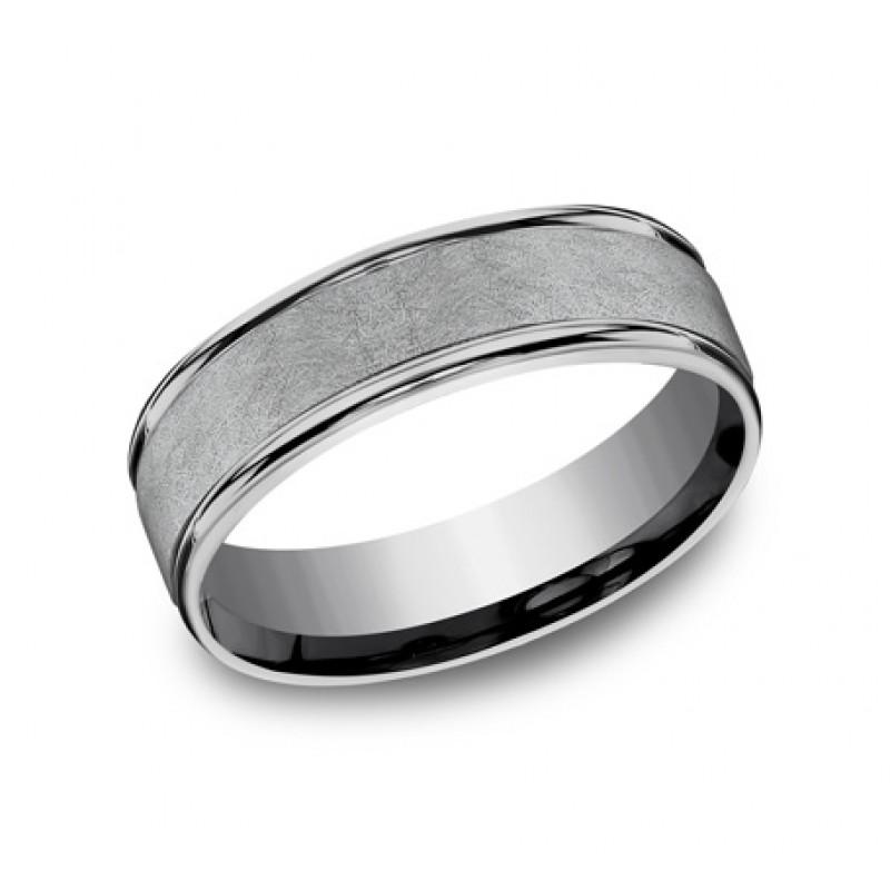 FORGE Mens Tantalum Wedding Band RECF86585GTA