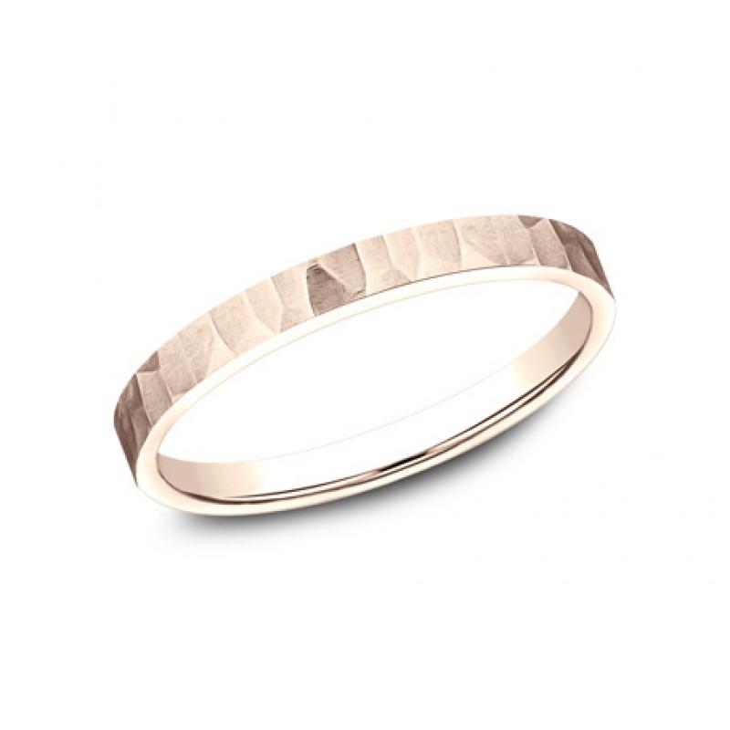 BENCHMARK Ladies 14k Rose Gold Wedding Band 492763R