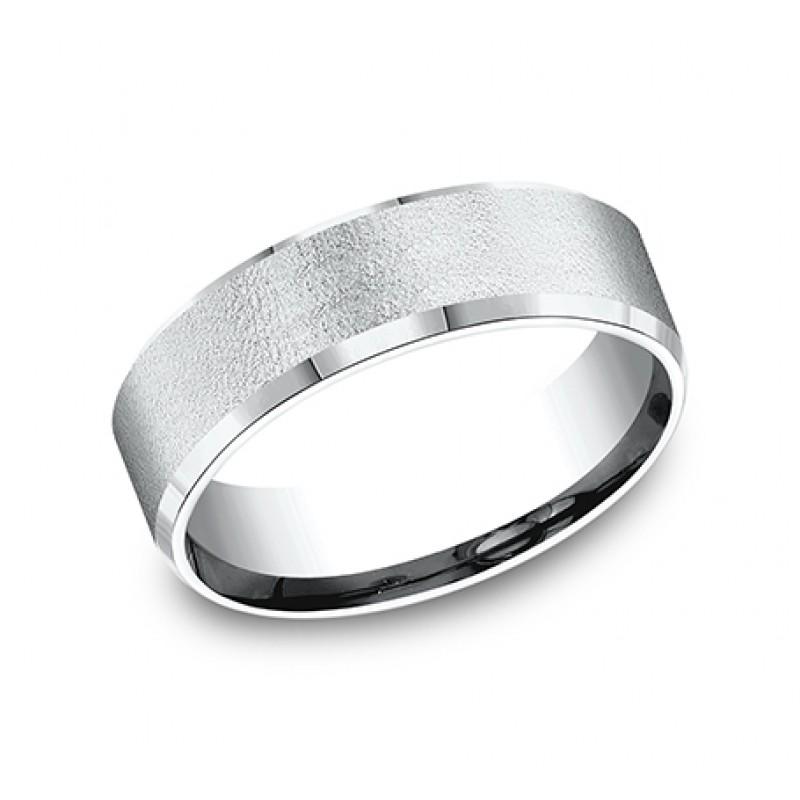 BENCHMARK Mens Palladium Wedding Band CF67333PD
