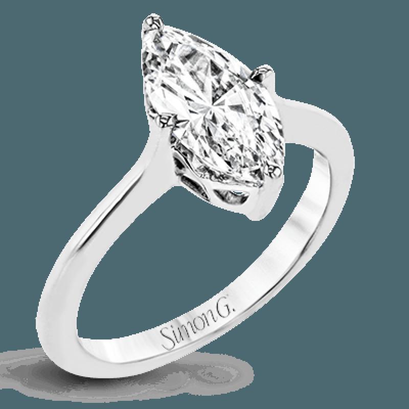 18K GOLD WHITE PR151 ENGAGEMENT RING