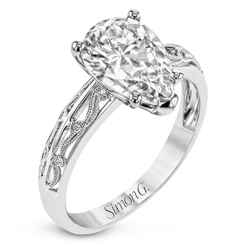 18K GOLD WHITE TR679-PR ENGAGEMENT RING