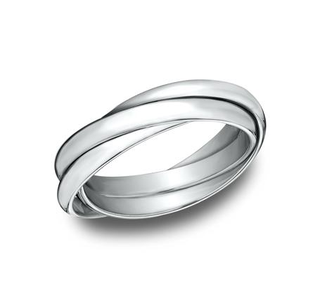 BENCHMARK Ladies 14k White Gold Wedding Band 125RR3W