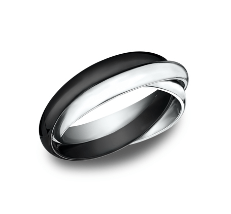 BENCHMARK Ladies Two-Tone Wedding Band 130RR1CM2W