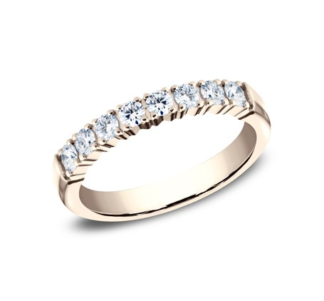 BENCHMARK Ladies 14k Rose Gold Wedding Band 5925268R