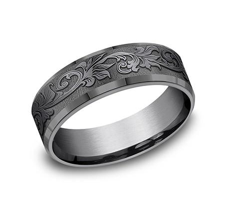 FORGE Mens Tantalum Wedding Band CF847391TA