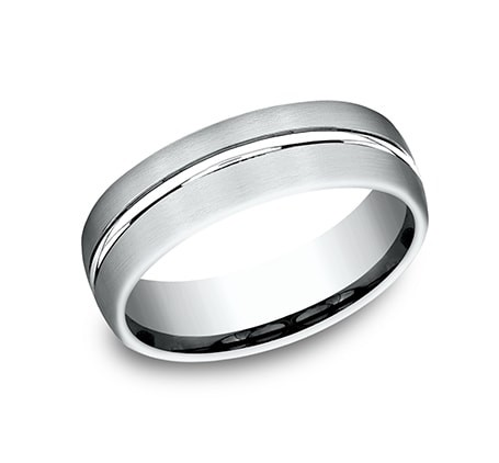 BENCHMARK Mens White Gold Wedding Band CF4965411W
