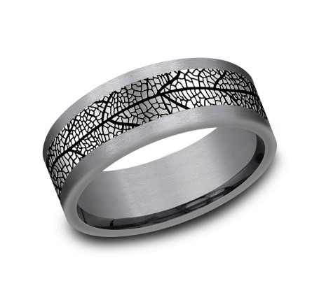 FORGE Mens Tantalum Wedding Band CF128613GBKTGTA