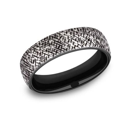 FORGE Mens Titanium Wedding Band EUCF8465590GBKT