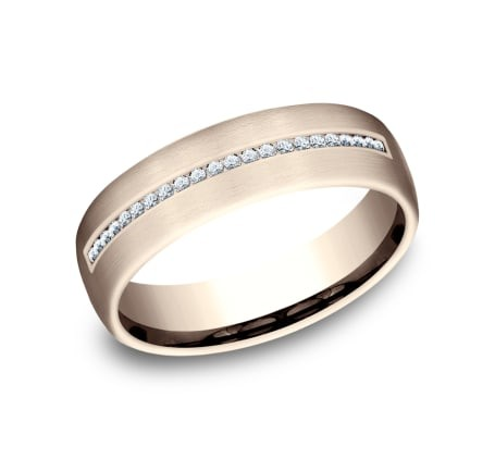 BENCHMARK Mens Rose Gold Wedding Band CF716573R