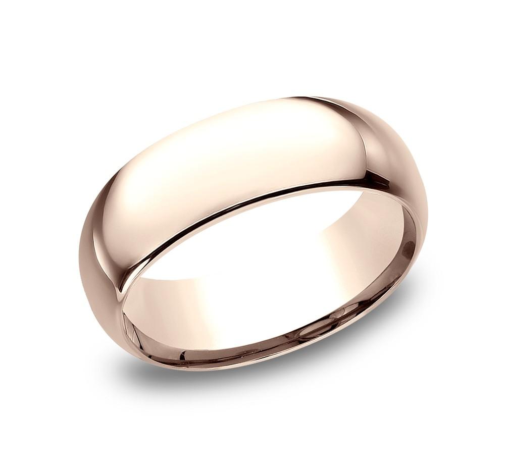 BENCHMARK Mens Rose Gold Wedding Band LCF180R