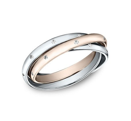 BENCHMARK Ladies Two-Tone Wedding Band LCF120DRR1R2W