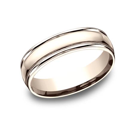 BENCHMARK Mens Rose Gold Wedding Band CF15608R