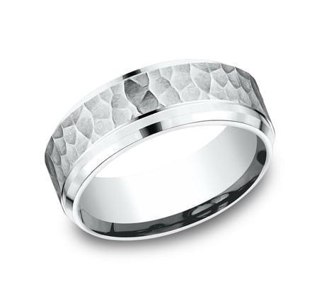 FORGE Mens Platinum Wedding Band CF68490PT