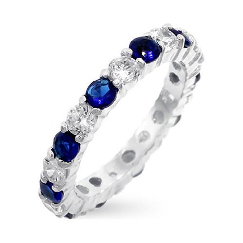 Sapphire Diamond Eternity Band