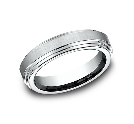 BENCHMARK Mens Palladium Wedding Band CF66100PD