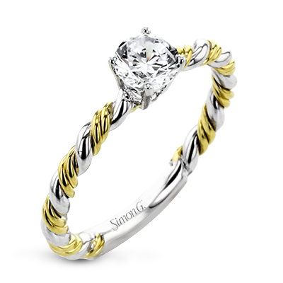 18K GOLD TWO TONE LR2749 ENGAGEMENT RING