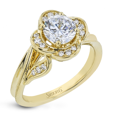 18K GOLD YELLOW LR2821 ENGAGEMENT RING