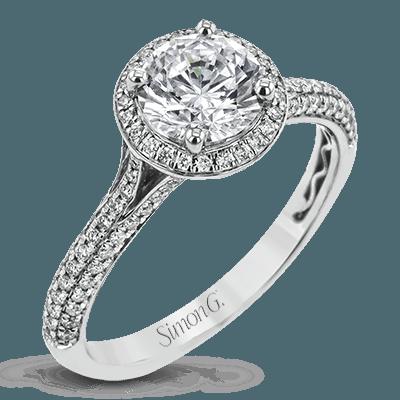 18K GOLD WHITE MR3097 ENGAGEMENT RING