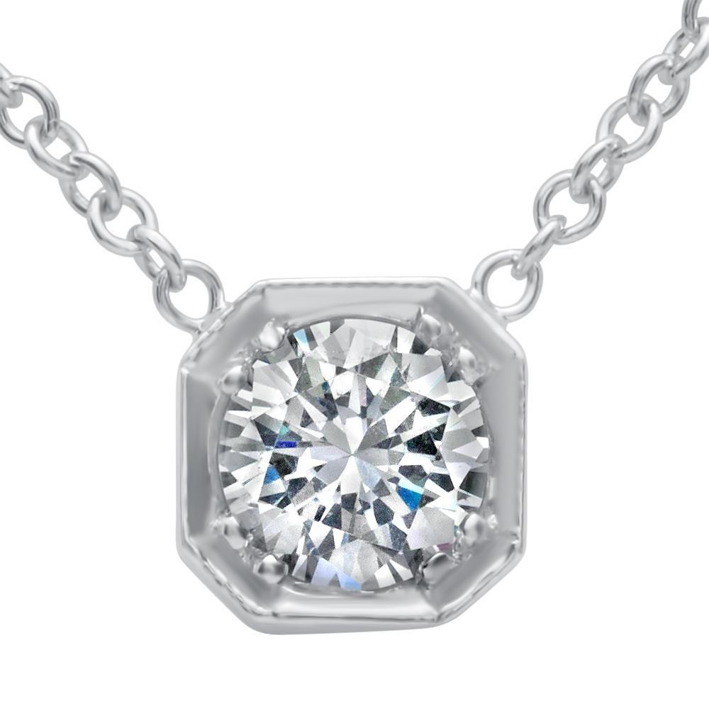 Antique Style Diamond Pendant with Chain