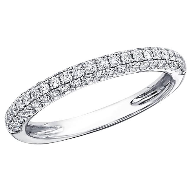 Micro Pave Diamond Wedding Band