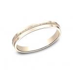 BENCHMARK Ladies Rose Gold Wedding Band 72013R