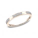 BENCHMARK Ladies 14k Rose Gold Wedding Band 522850R