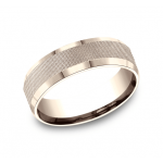 BENCHMARK Mens Rose Gold Wedding Band CF67469R