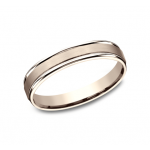 BENCHMARK Mens Rose Gold Wedding Band RECF7402SR