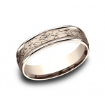 BENCHMARK Mens Rose Gold Wedding Band RECF846374R