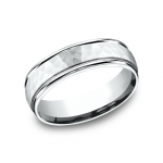 BENCHMARK Mens White Gold Wedding Band RECF865591W