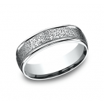 BENCHMARK Mens Platinum Wedding Band RECF8465590PT